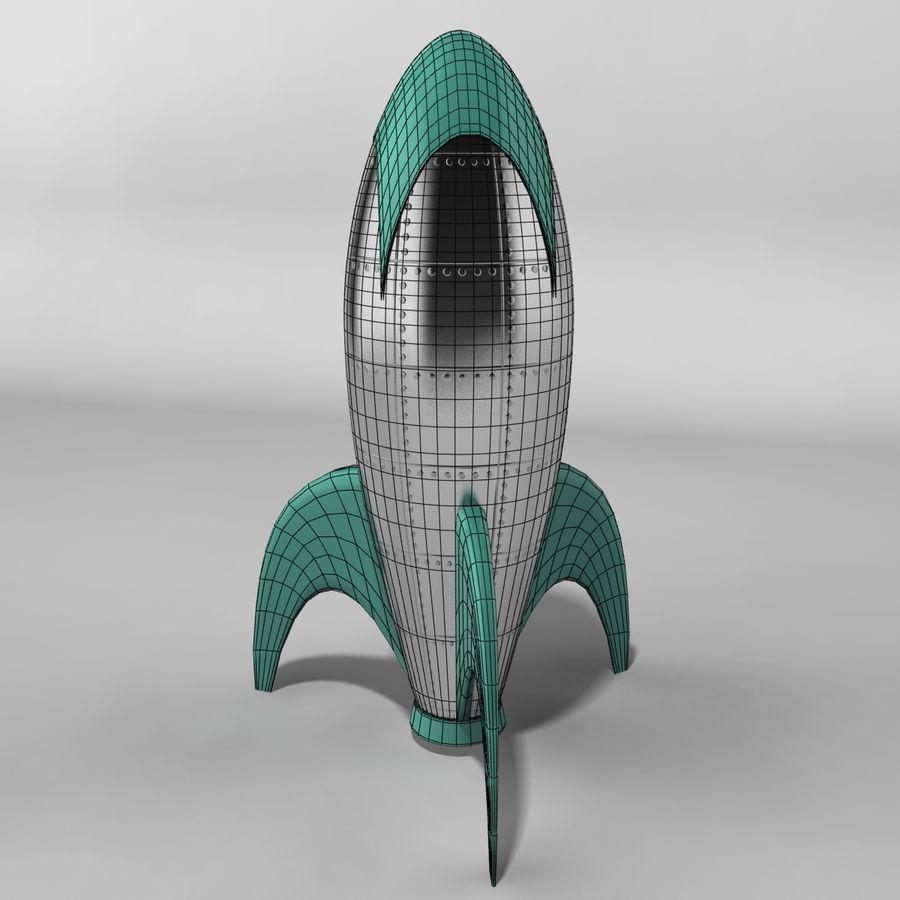 Cartoon Rocket royalty-free 3d model - Preview no. 5