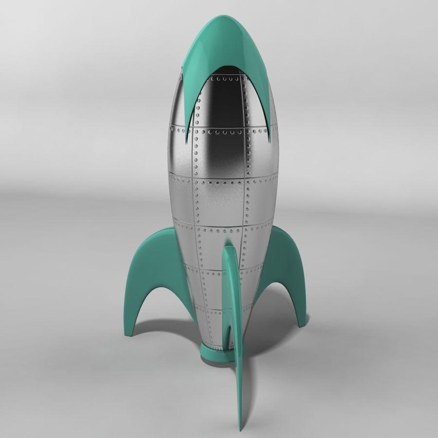 Cartoon Rocket royalty-free 3d model - Preview no. 4