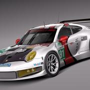 Porsche 911 RSR 2014 3d model