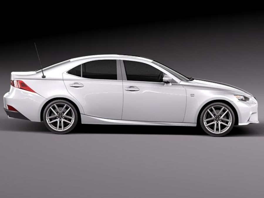 Lexus IS 2014 royalty-free 3d model - Preview no. 7