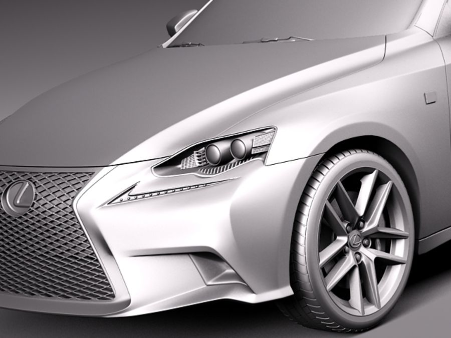 Lexus IS 2014 royalty-free 3d model - Preview no. 10