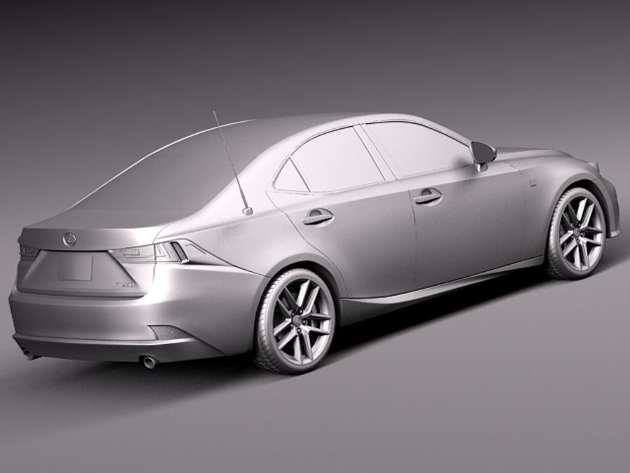 Lexus IS 2014 royalty-free 3d model - Preview no. 12