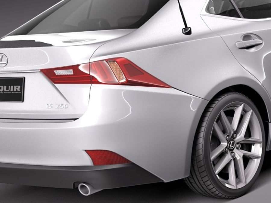 Lexus IS 2014 royalty-free 3d model - Preview no. 4