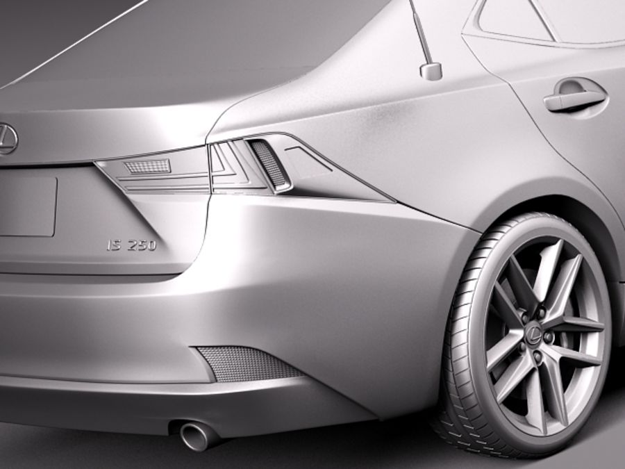 Lexus IS 2014 royalty-free 3d model - Preview no. 11