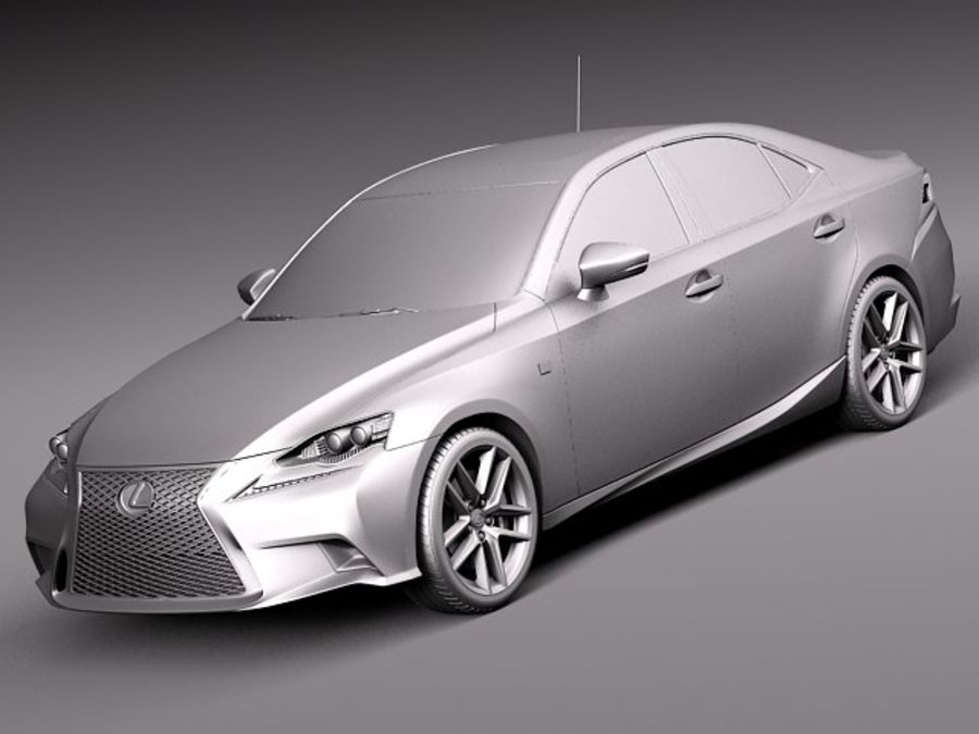 Lexus IS 2014 royalty-free 3d model - Preview no. 9