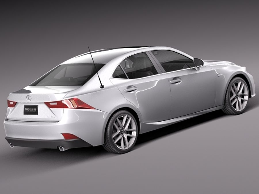 Lexus IS 2014 royalty-free 3d model - Preview no. 5