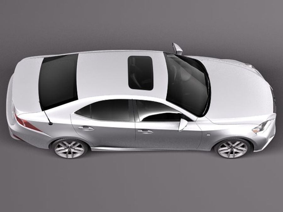Lexus IS 2014 royalty-free 3d model - Preview no. 8