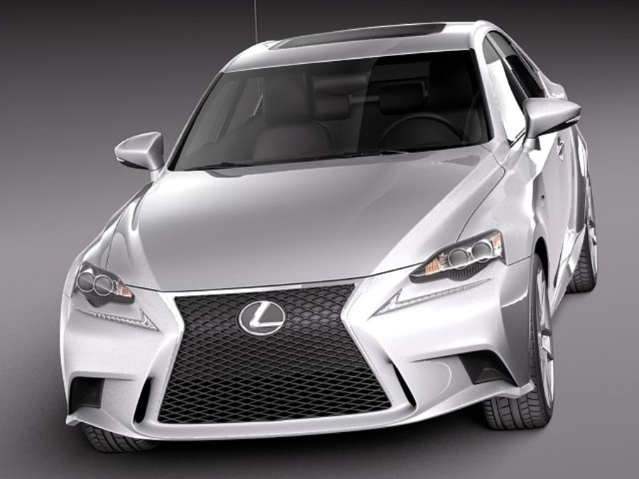 Lexus IS 2014 royalty-free 3d model - Preview no. 2