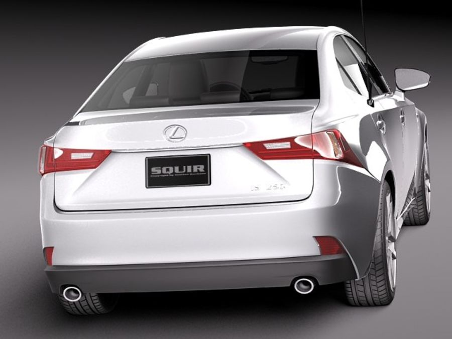 Lexus IS 2014 royalty-free 3d model - Preview no. 6