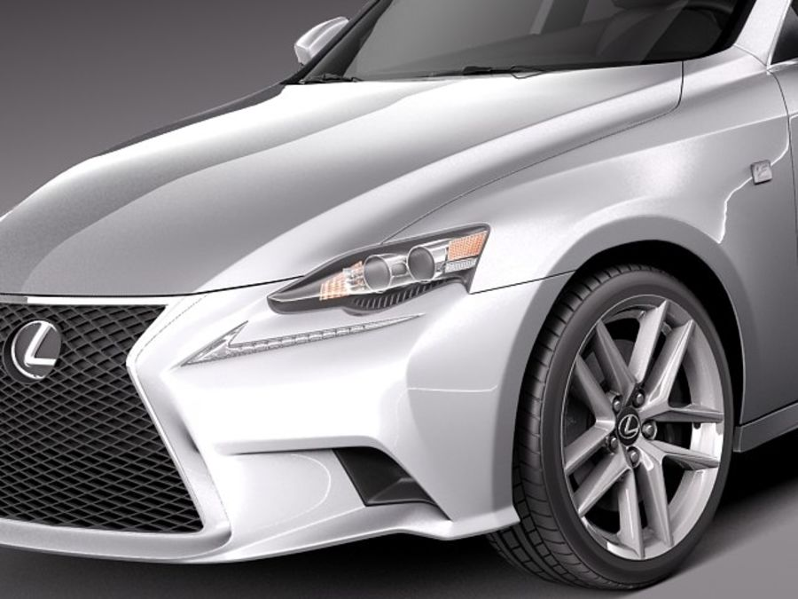 Lexus IS 2014 royalty-free 3d model - Preview no. 3