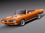 Pontiac GTO 1969 Convertible 3d model