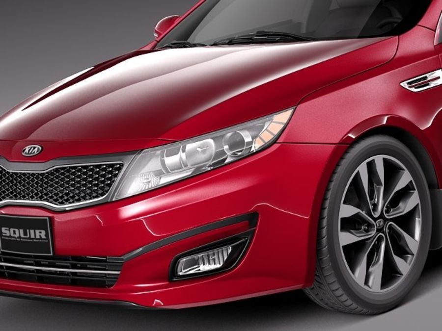 Kia Optima 2014 royalty-free 3d model - Preview no. 3