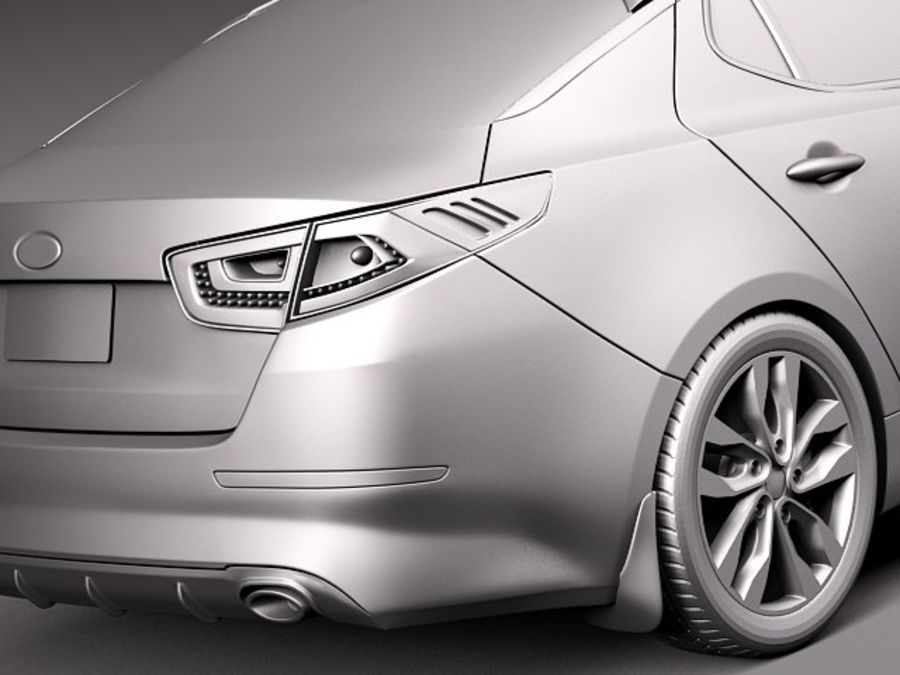 Kia Optima 2014 royalty-free 3d model - Preview no. 11