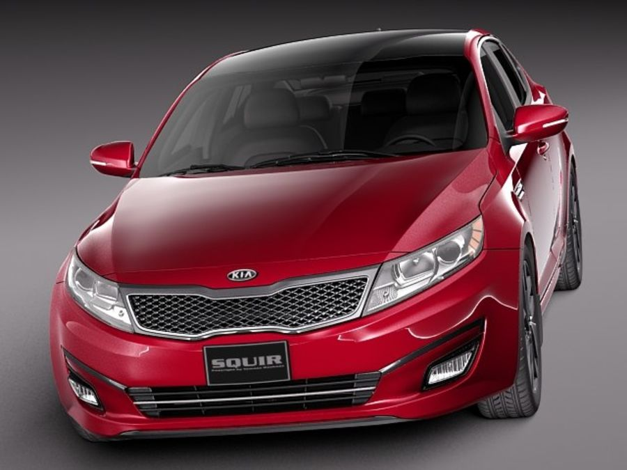 Kia Optima 2014 royalty-free 3d model - Preview no. 2