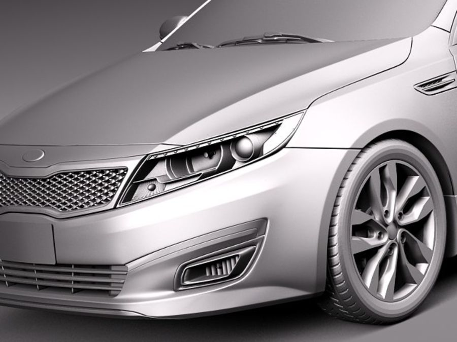 Kia Optima 2014 royalty-free 3d model - Preview no. 10