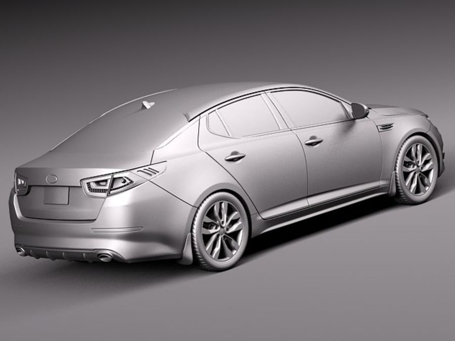 Kia Optima 2014 royalty-free 3d model - Preview no. 12