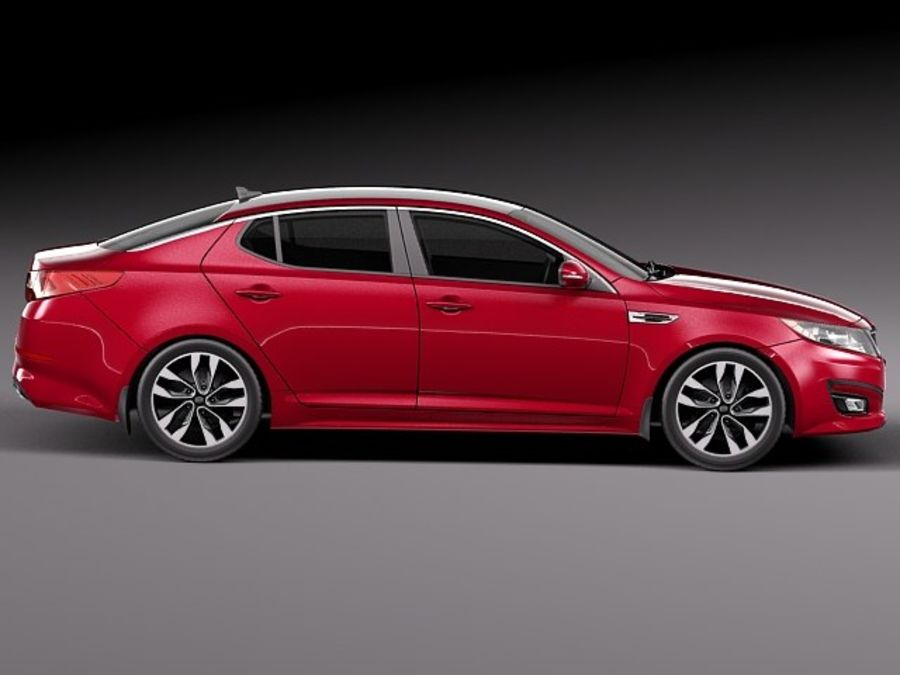 Kia Optima 2014 royalty-free 3d model - Preview no. 7
