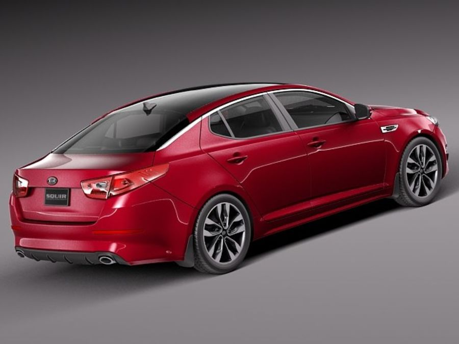 Kia Optima 2014 royalty-free 3d model - Preview no. 5