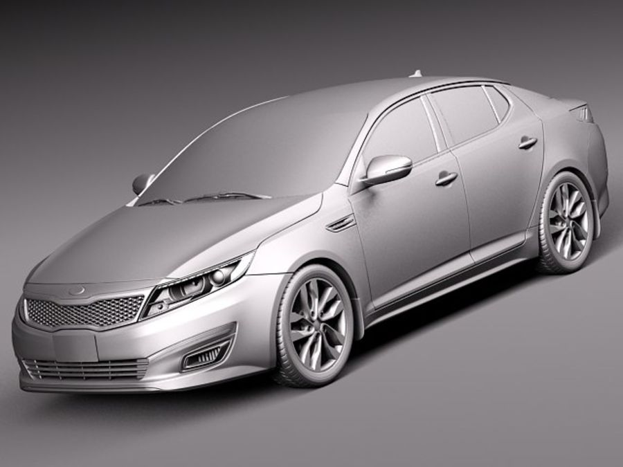 Kia Optima 2014 royalty-free 3d model - Preview no. 9
