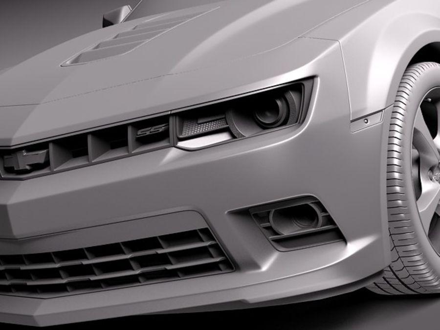 雪佛兰Camaro SS 2014 royalty-free 3d model - Preview no. 10