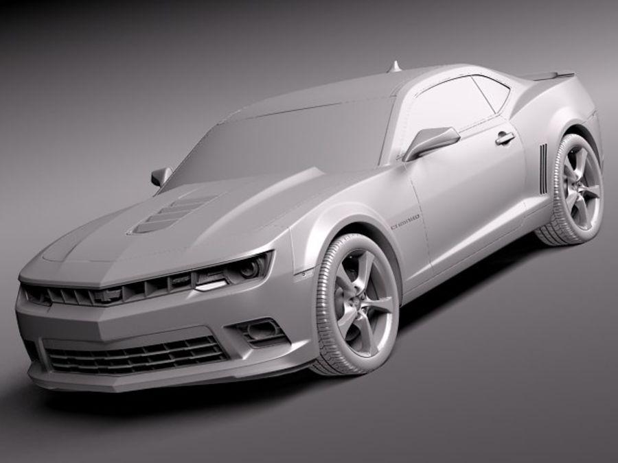 雪佛兰Camaro SS 2014 royalty-free 3d model - Preview no. 9