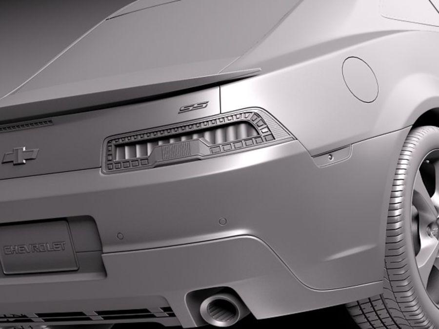 雪佛兰Camaro SS 2014 royalty-free 3d model - Preview no. 13