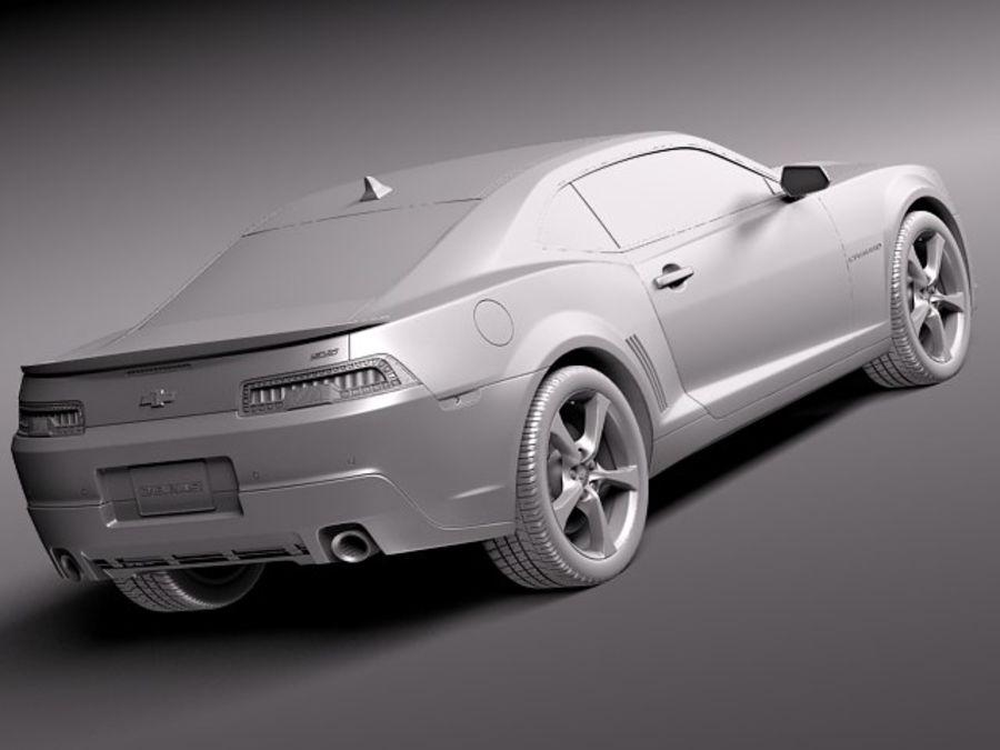 雪佛兰Camaro SS 2014 royalty-free 3d model - Preview no. 12
