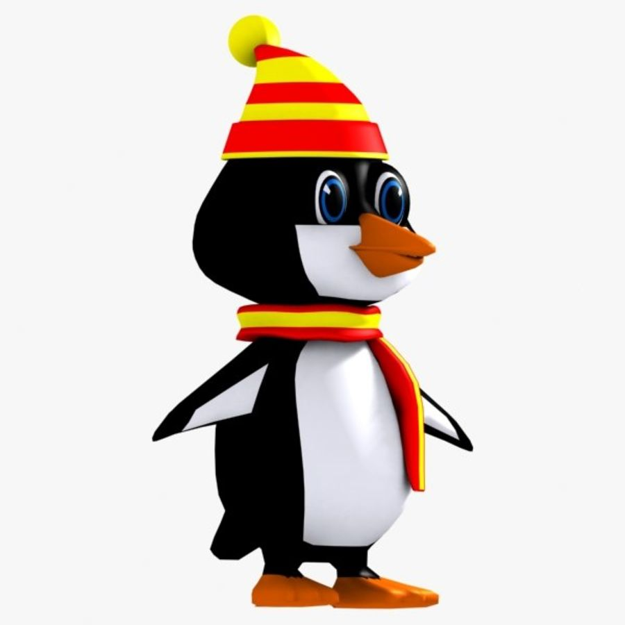 Penguin Character royalty-free 3d model - Preview no. 3