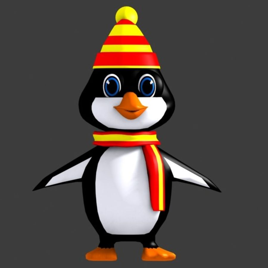 Penguin Character royalty-free 3d model - Preview no. 2