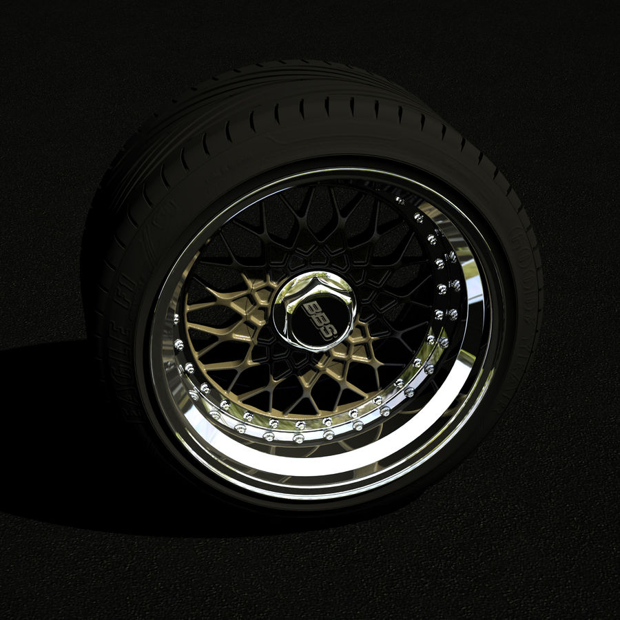 BBS RS royalty-free 3d model - Preview no. 3