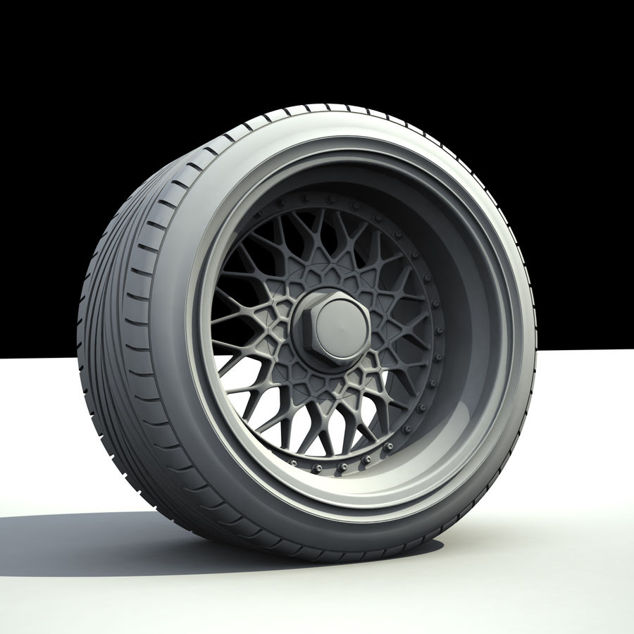 BBS RS royalty-free 3d model - Preview no. 4