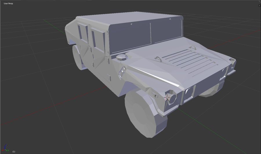 Humvee (Untextured) royalty-free 3d model - Preview no. 4