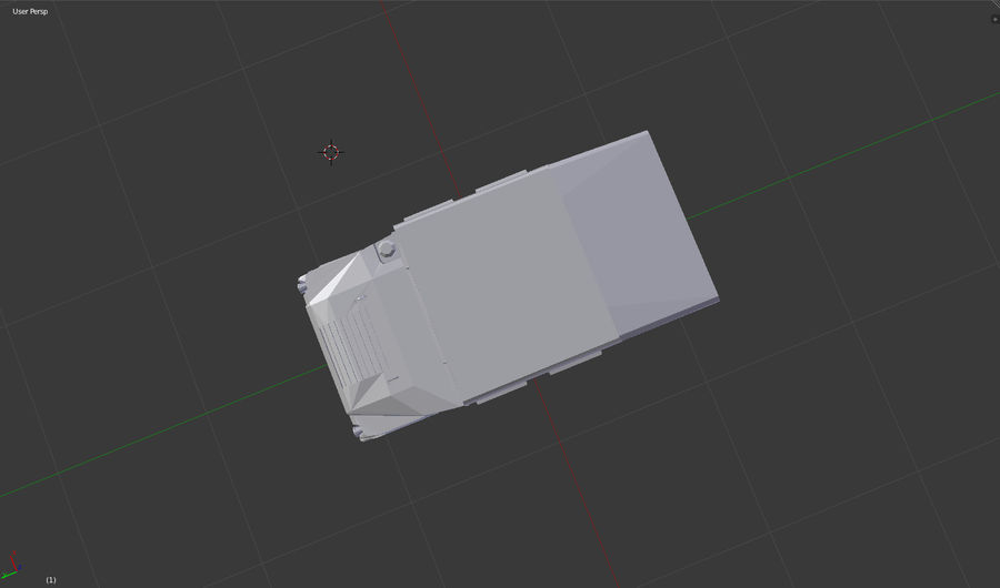 Humvee (Untextured) royalty-free 3d model - Preview no. 2