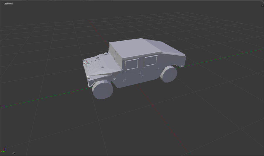 Humvee (Untextured) royalty-free 3d model - Preview no. 3