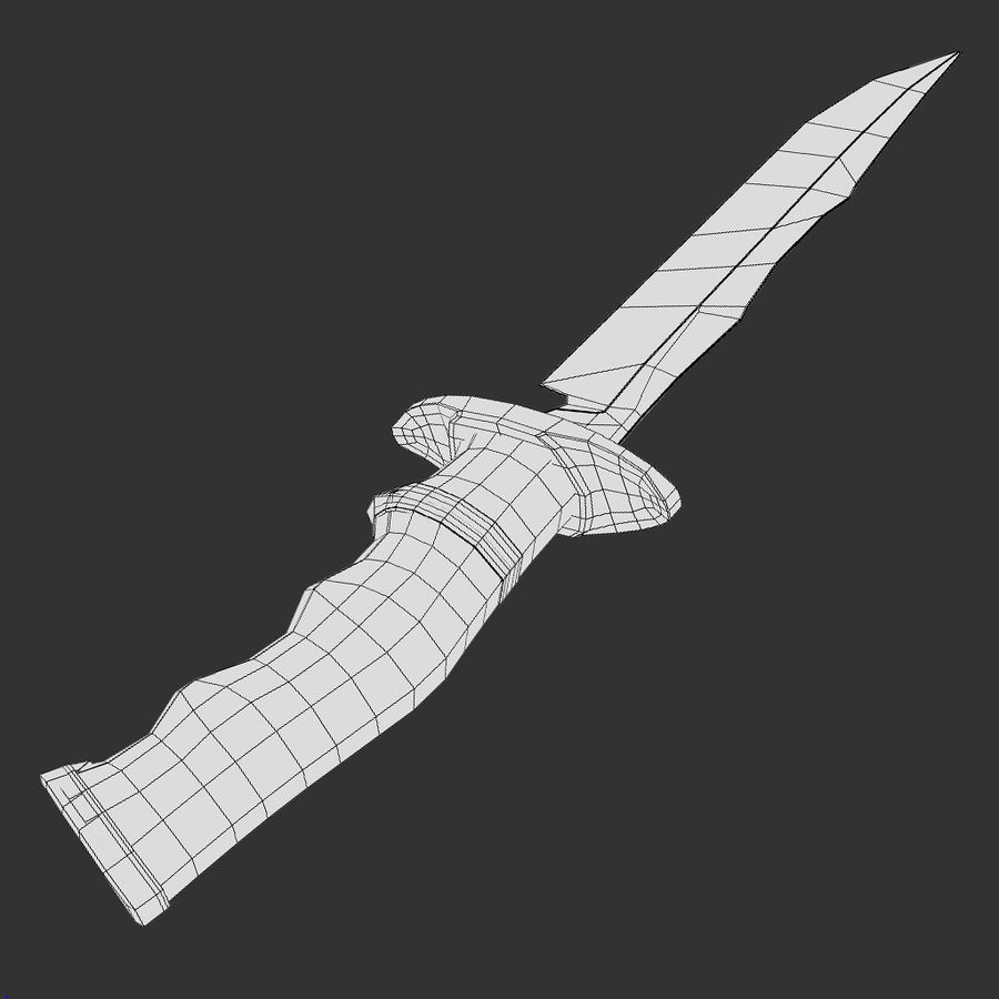 Combat Knife royalty-free 3d model - Preview no. 6