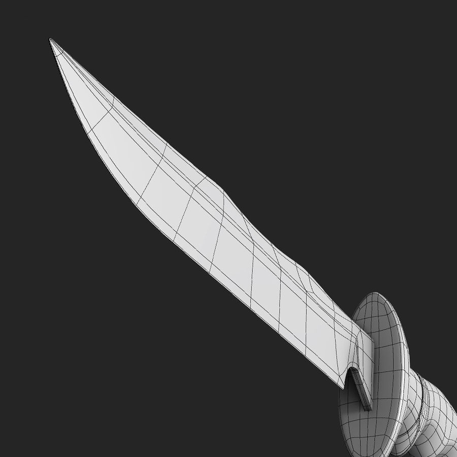 Combat Knife royalty-free 3d model - Preview no. 8