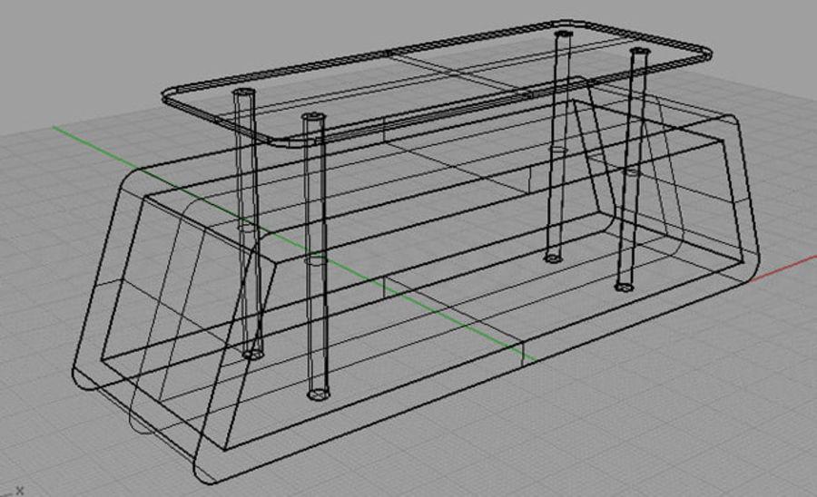 mueble de diseño minimalista royalty-free modelo 3d - Preview no. 5