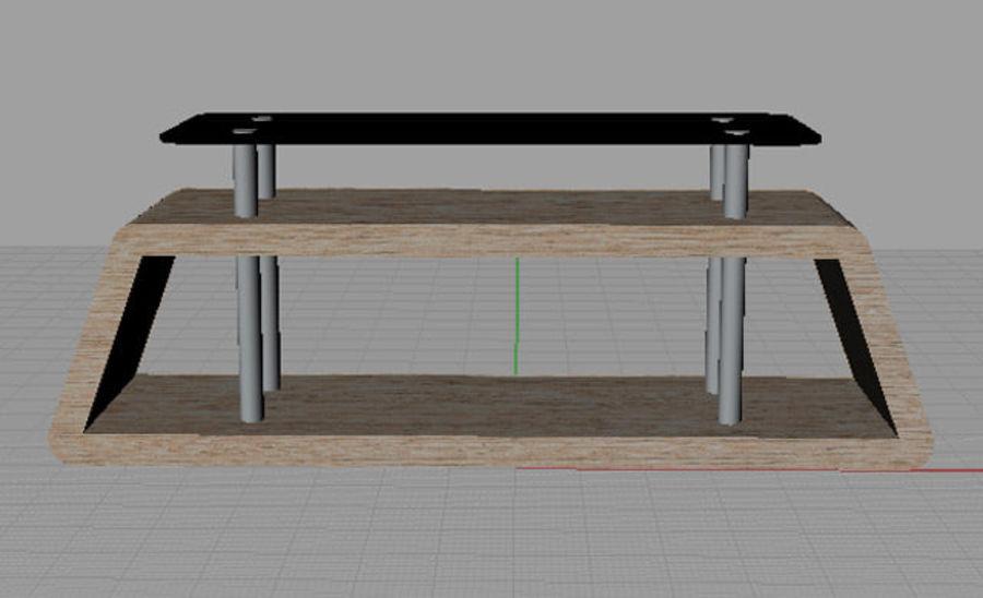 mueble de diseño minimalista royalty-free modelo 3d - Preview no. 6