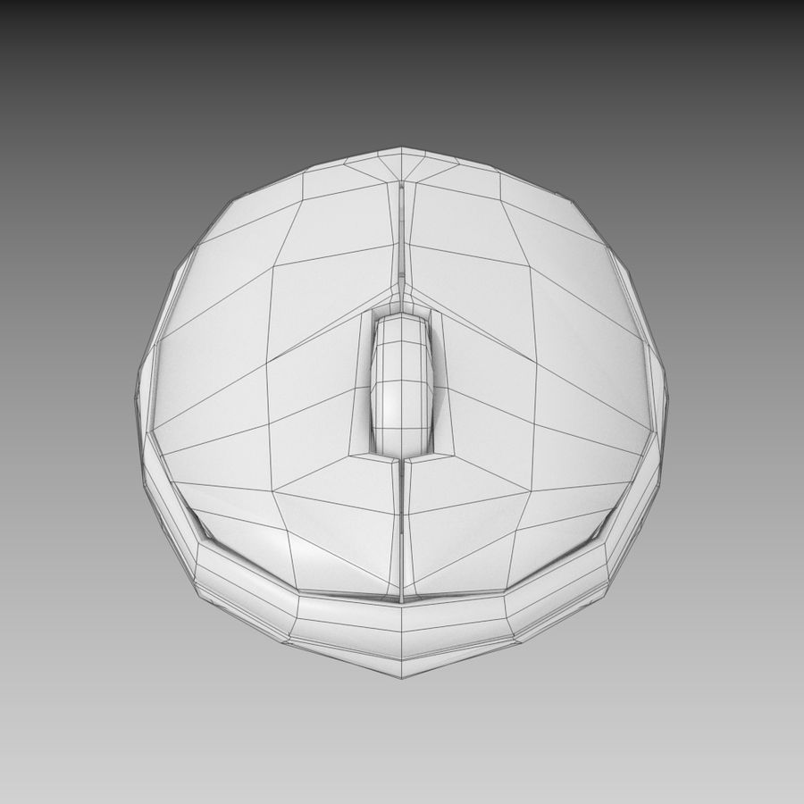 Wireless Computer Mouse royalty-free 3d model - Preview no. 5