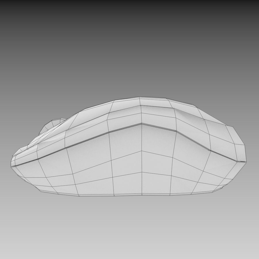 Wireless Computer Mouse royalty-free 3d model - Preview no. 4