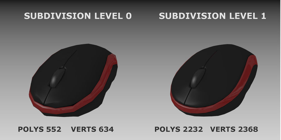 Wireless Computer Mouse royalty-free 3d model - Preview no. 7