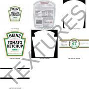 Butelka ketchupu Heinz 3d model