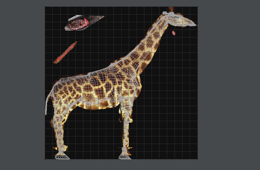 长颈鹿 royalty-free 3d model - Preview no. 7