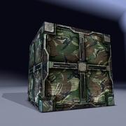 Scatola metallica militare. Gioco pronto! 3d model