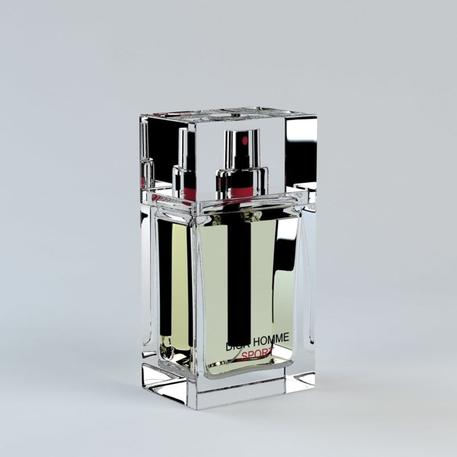 Perfume Dior Homme Sport royalty-free 3d model - Preview no. 6