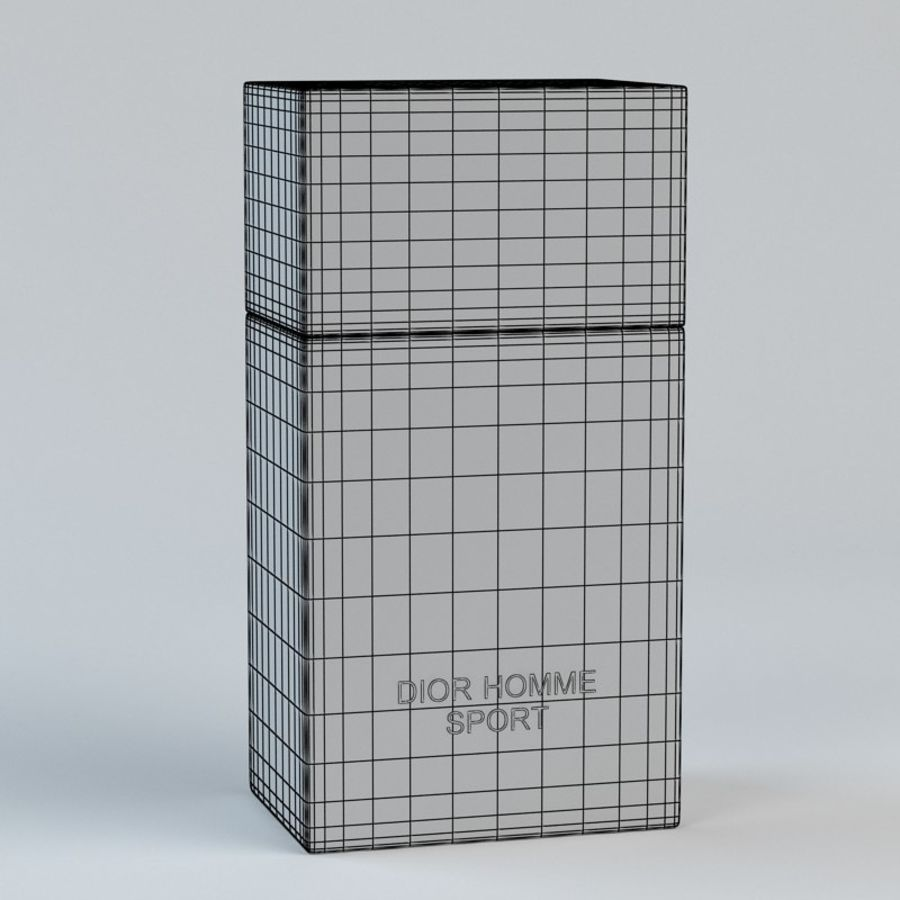 Perfume Dior Homme Sport royalty-free 3d model - Preview no. 9