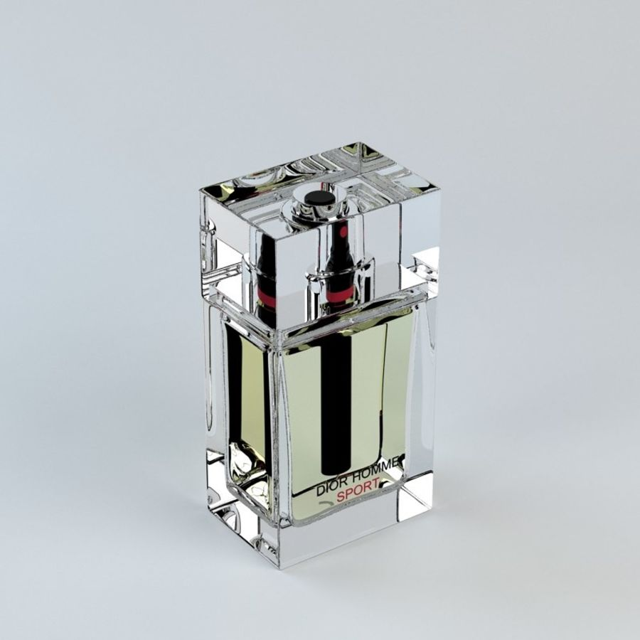 Perfume Dior Homme Sport royalty-free 3d model - Preview no. 7