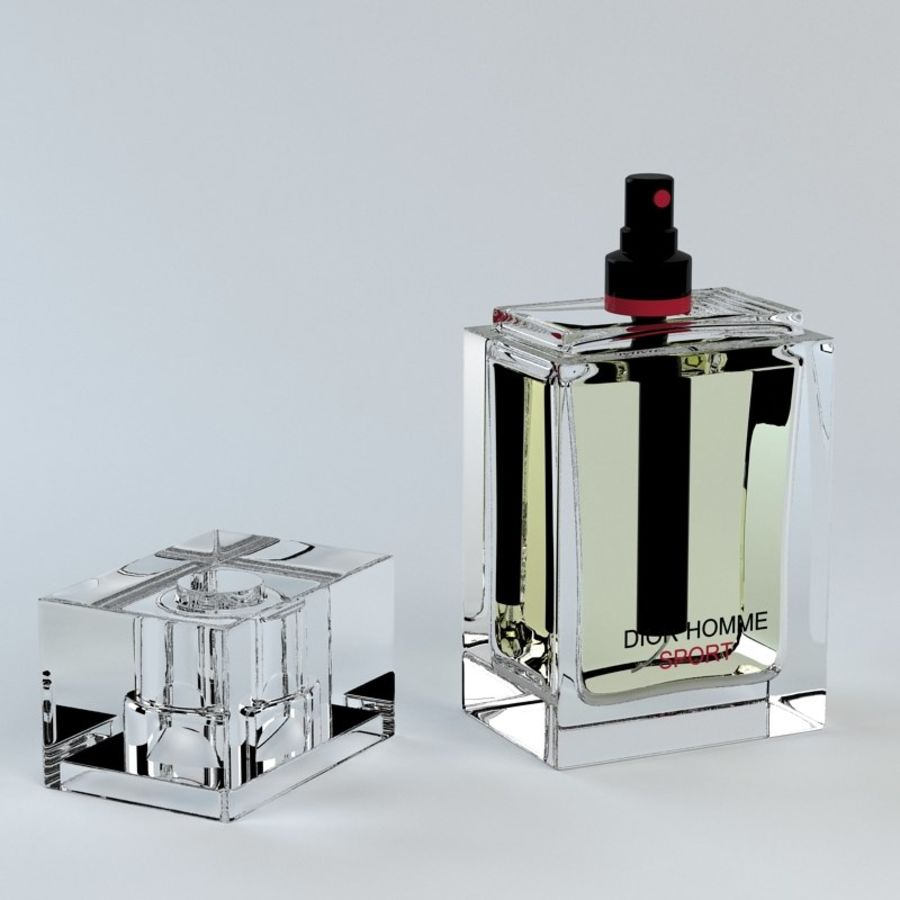 Perfume Dior Homme Sport royalty-free 3d model - Preview no. 1
