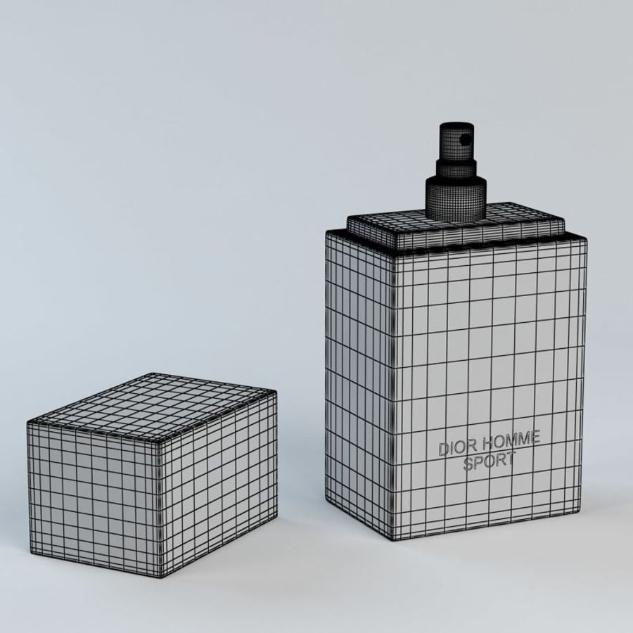 Perfume Dior Homme Sport royalty-free 3d model - Preview no. 10