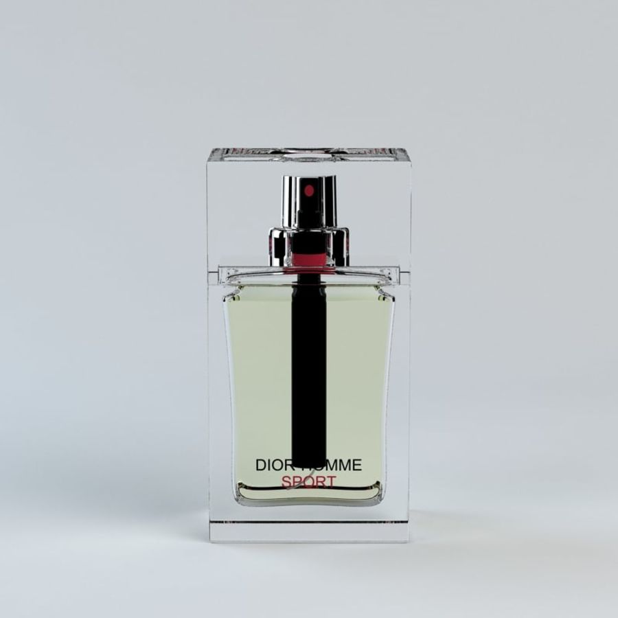 Perfume Dior Homme Sport royalty-free 3d model - Preview no. 5